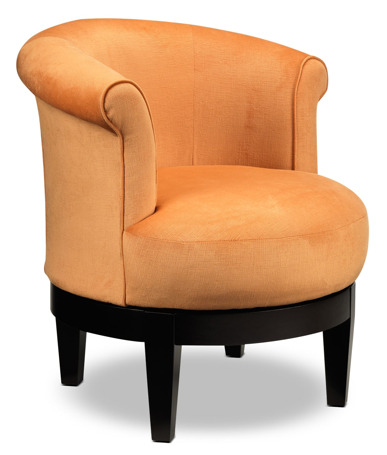 Living Room Furniture - Attica Swivel Accent Chair - Orange