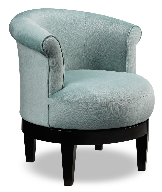 attica swivel accent chair aqua leon 39 s. Black Bedroom Furniture Sets. Home Design Ideas