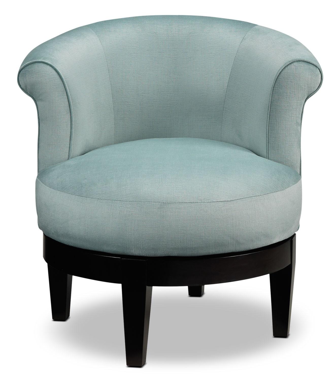 Attica Swivel Accent Chair Aqua Leon S