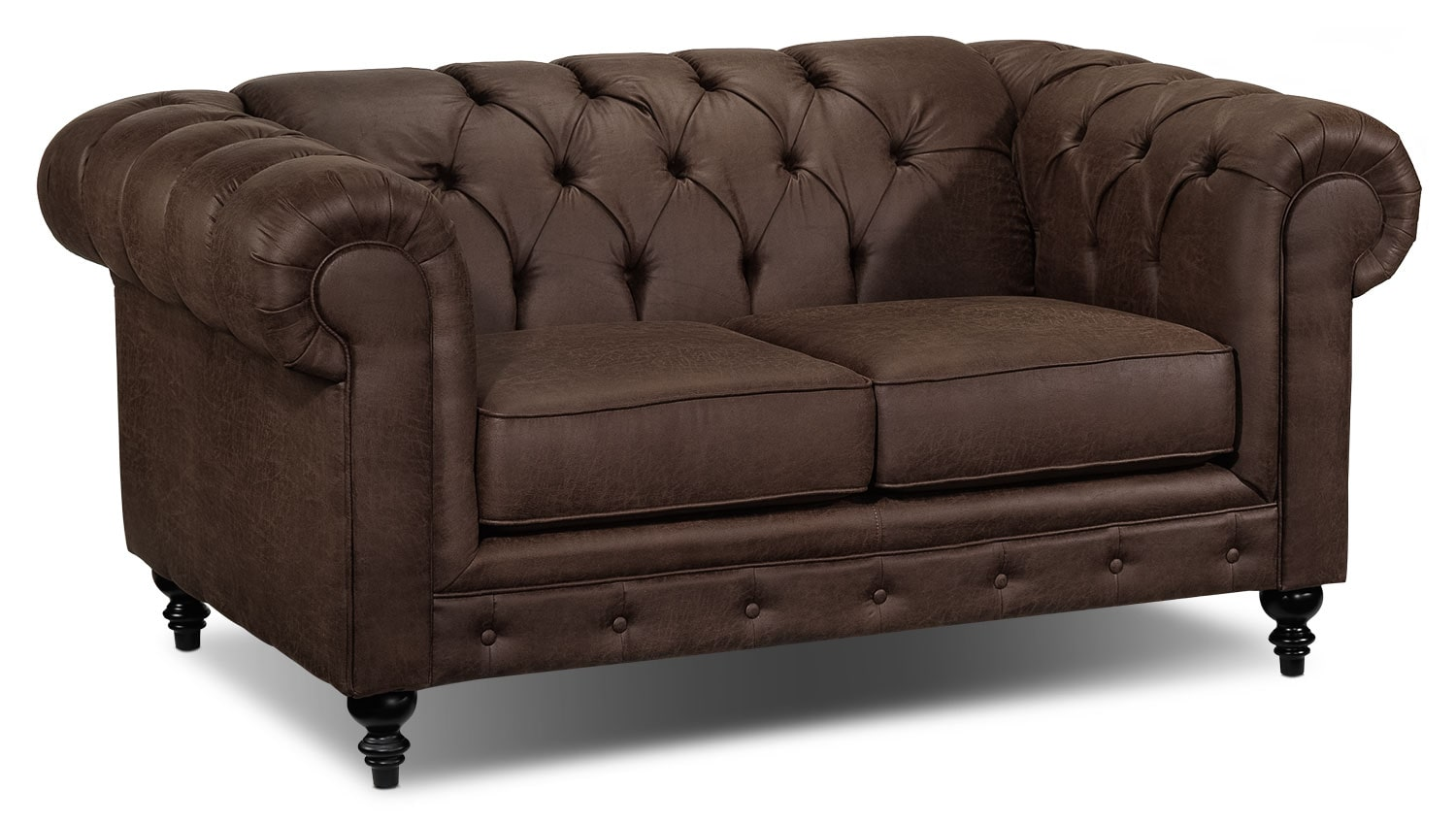 Living Room Furniture - Chapman Loveseat - Brown