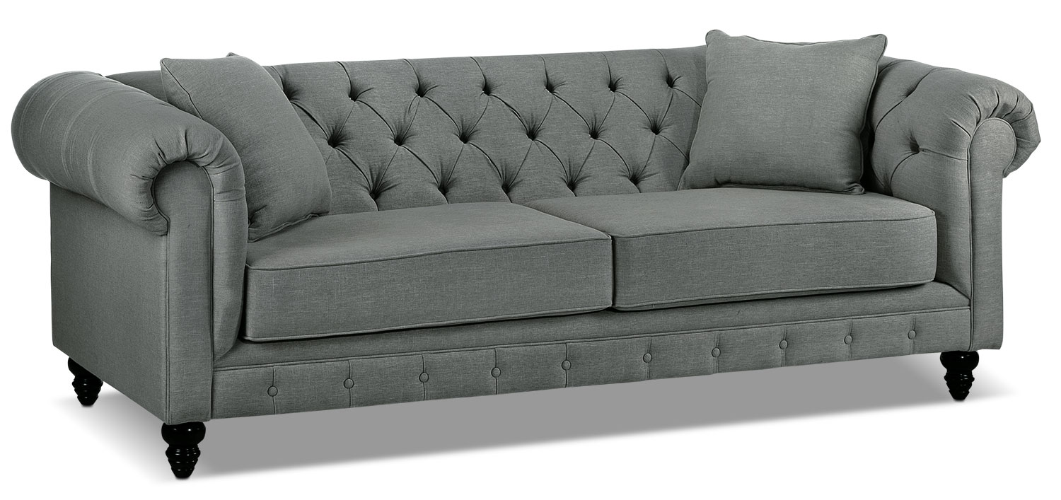 Living Room Furniture - Nubia Sofa - Sterling