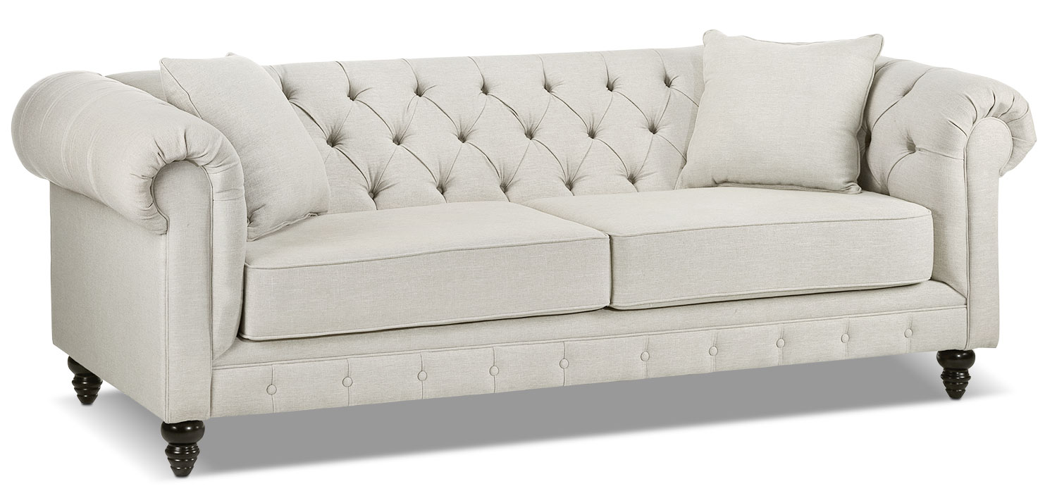 Living Room Furniture - Nubia Sofa - Pearl