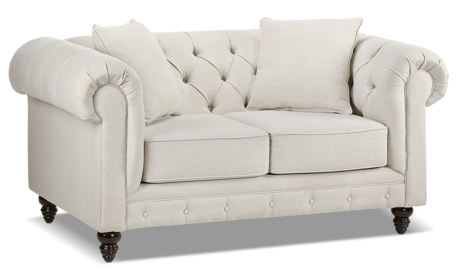 Living Room Furniture - Nubia Loveseat - Pearl