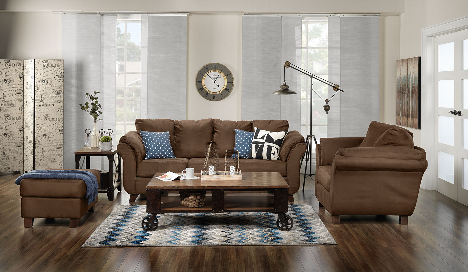 pinebrook coffee table - distressed natural pine | leon's