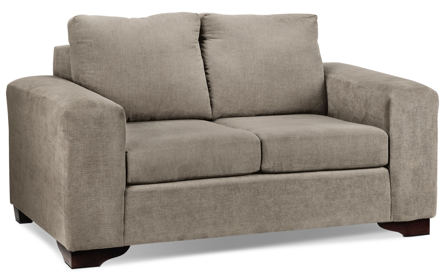 Living Room Furniture - Fava Loveseat - Pewter