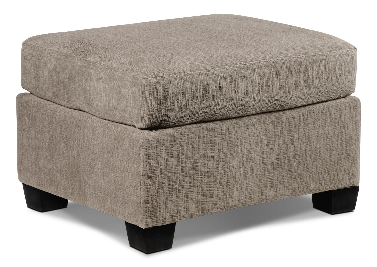 Living Room Furniture - Fava Ottoman - Pewter