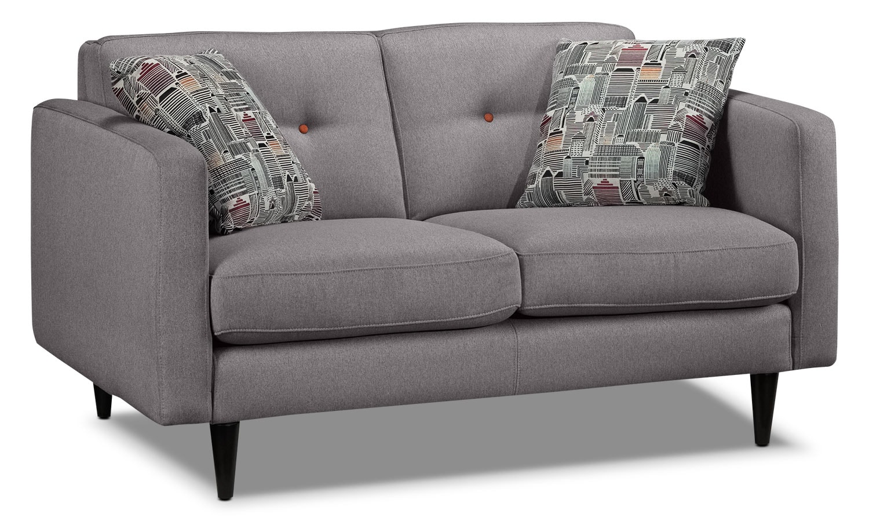 Living Room Furniture - Lassen Loveseat - Grey