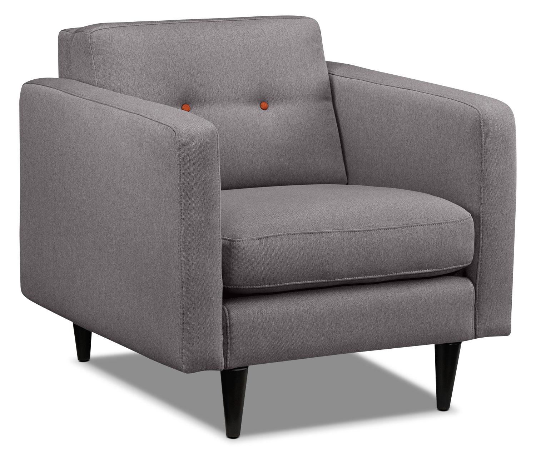 Living Room Furniture - Lassen Chair - Grey