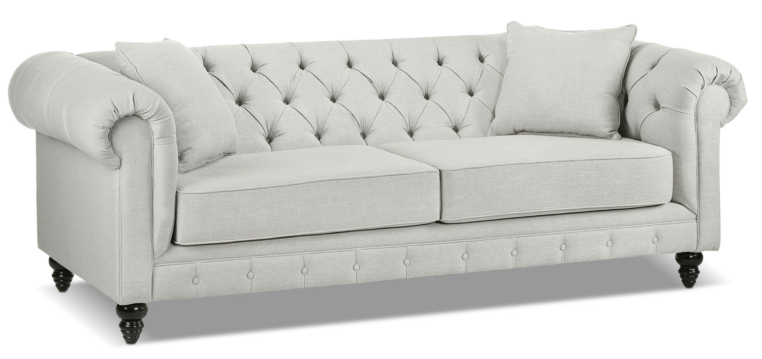 Living Room Furniture - Nubia Sofa - Platinum