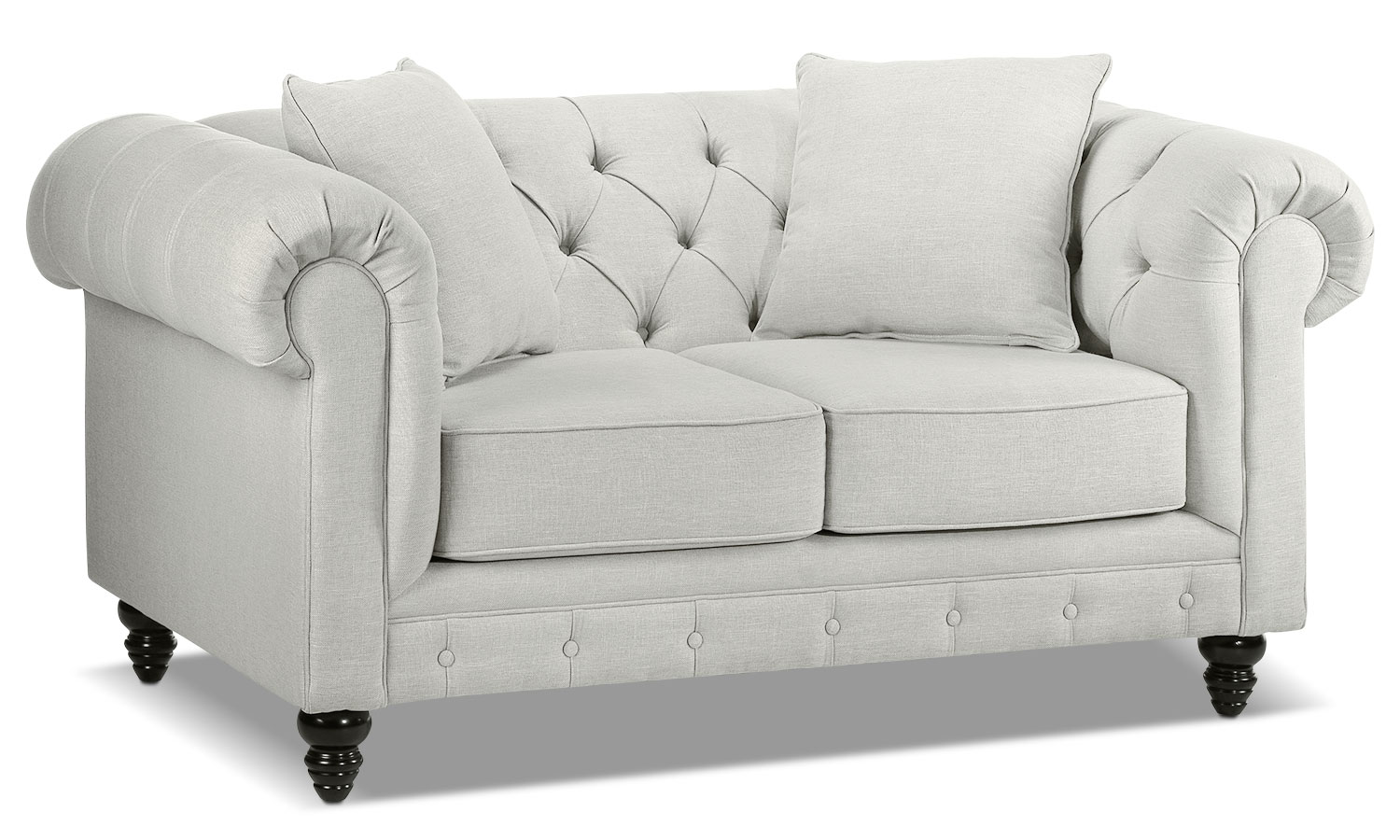Living Room Furniture - Nubia Loveseat - Platinum