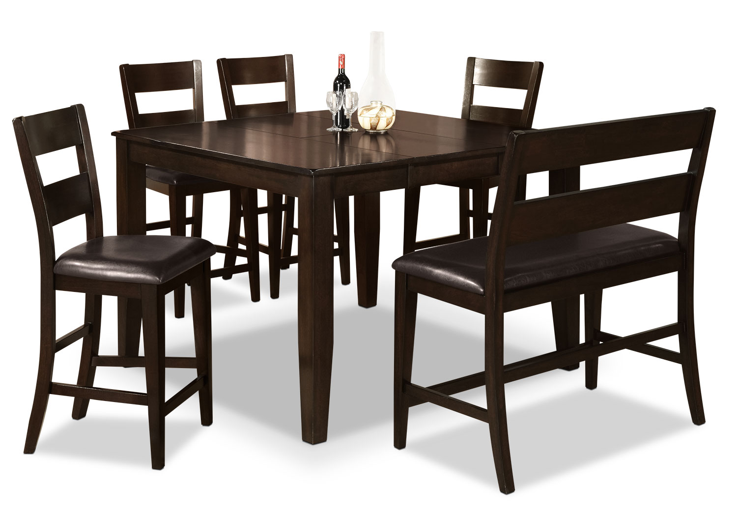 Dining Room Furniture - Dakota 6 Piece Counter-Height Dining Package