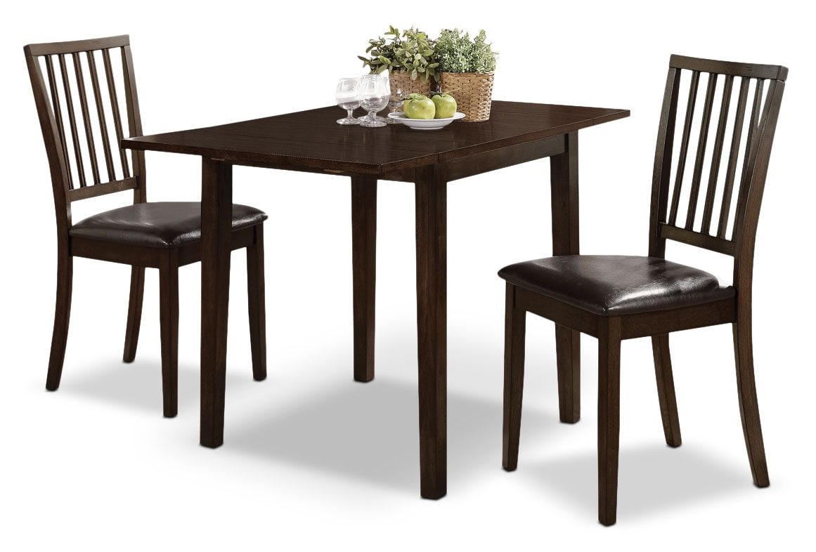 Dining Room Furniture - Dakota 3-Piece Square Table Dining Package