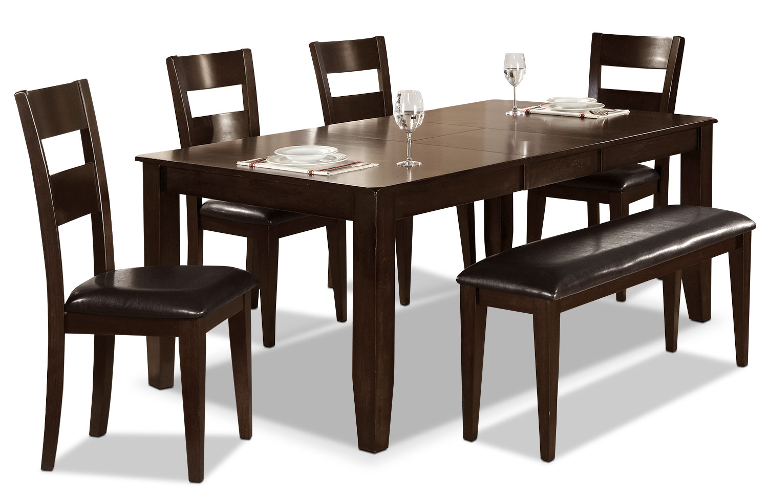 Dakota 6 piece casual dining package the brick for Casual dining room tables