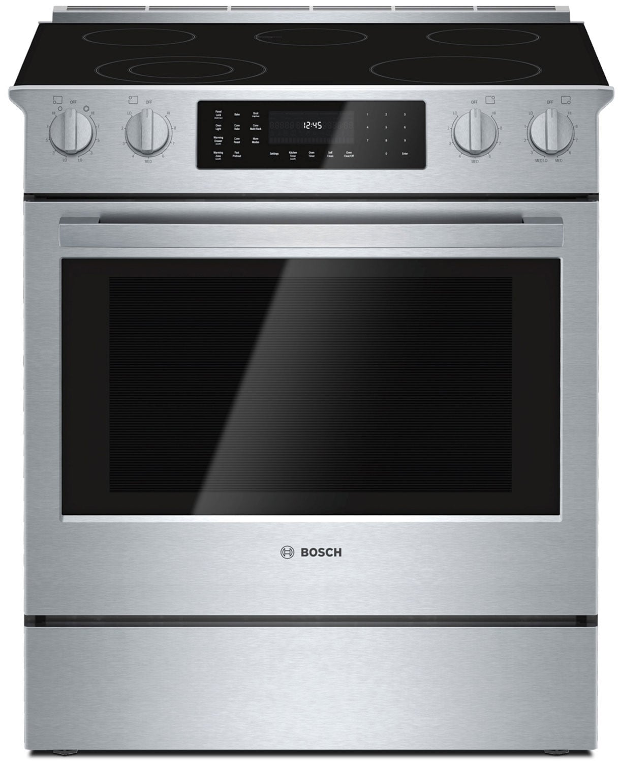 Bosch Stainless Steel Slide-In Electric Convection Range (4.6 Cu. Ft.) - HEI8054C