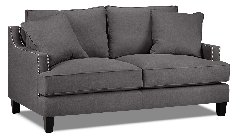 Living Room Furniture - Jules Loveseat - Charcoal