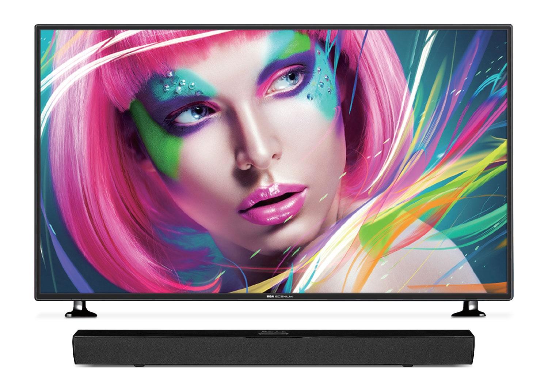 "RCA Scenium 50"" 4K UHD LED Television with Proscan Soundbar"