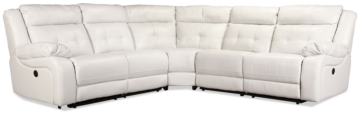 Living Room Furniture - Gallatin 3-Piece Sectional - Mist