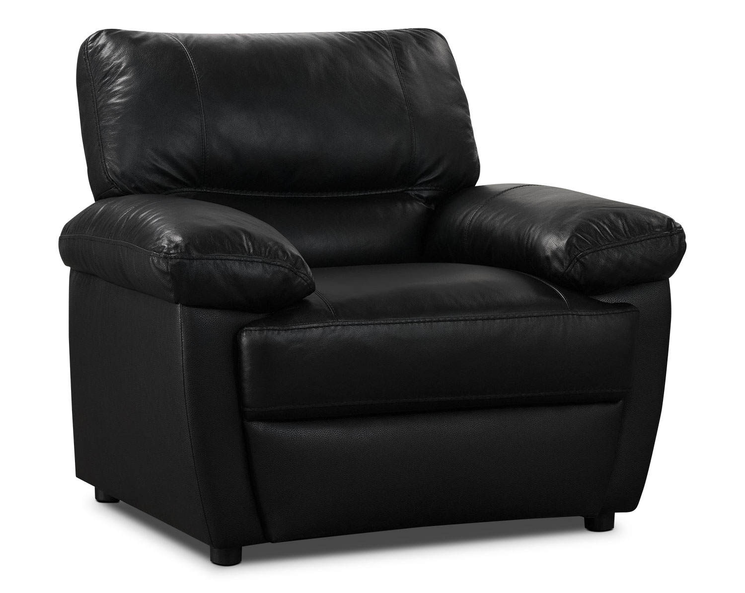 Living Room Furniture - Tess Genuine Leather Chair – Black