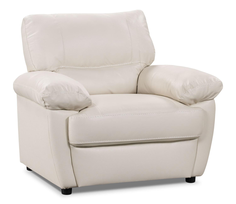 Tess Genuine Leather Chair – White