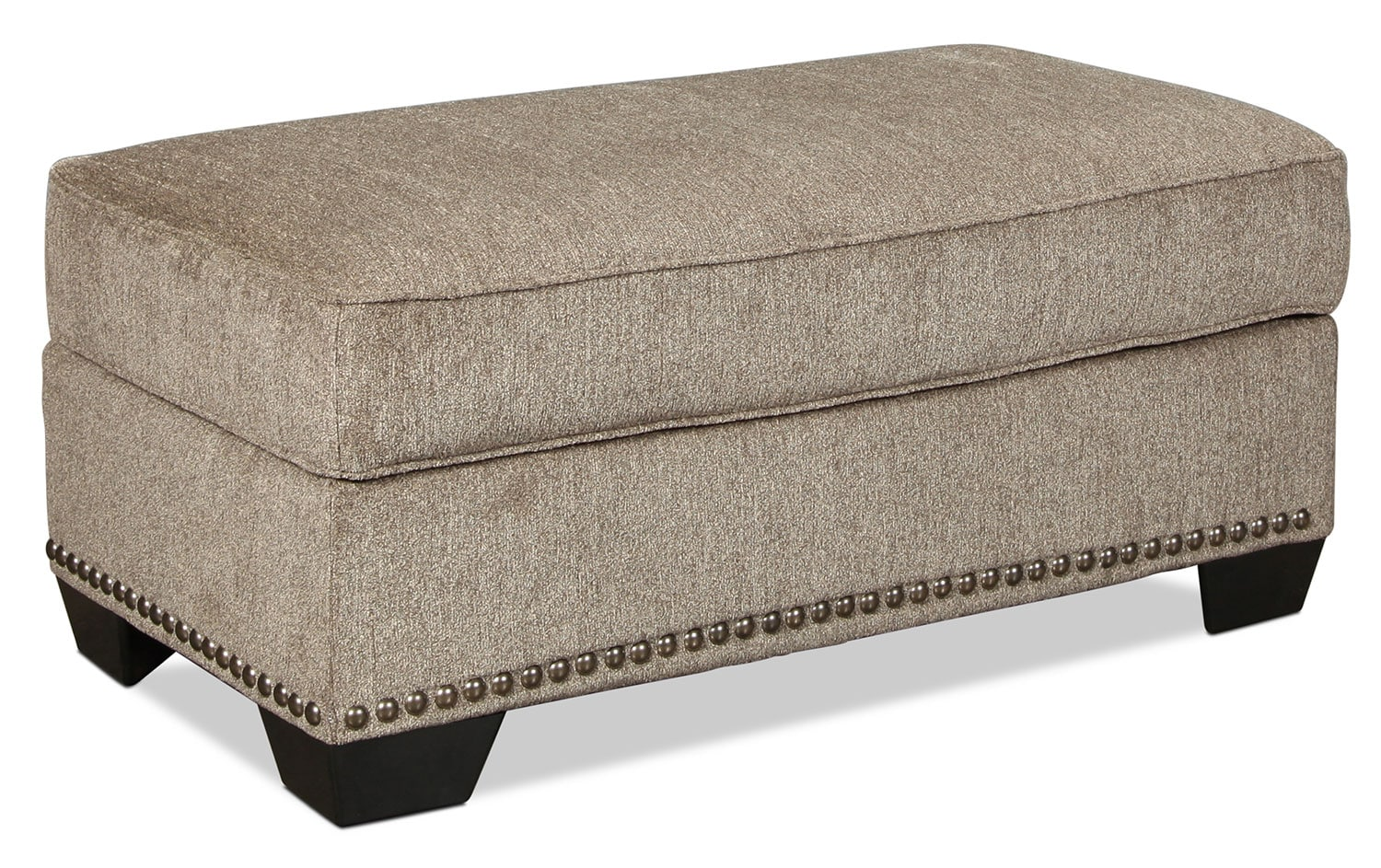 Living Room Furniture - Callie Ottoman - Grey