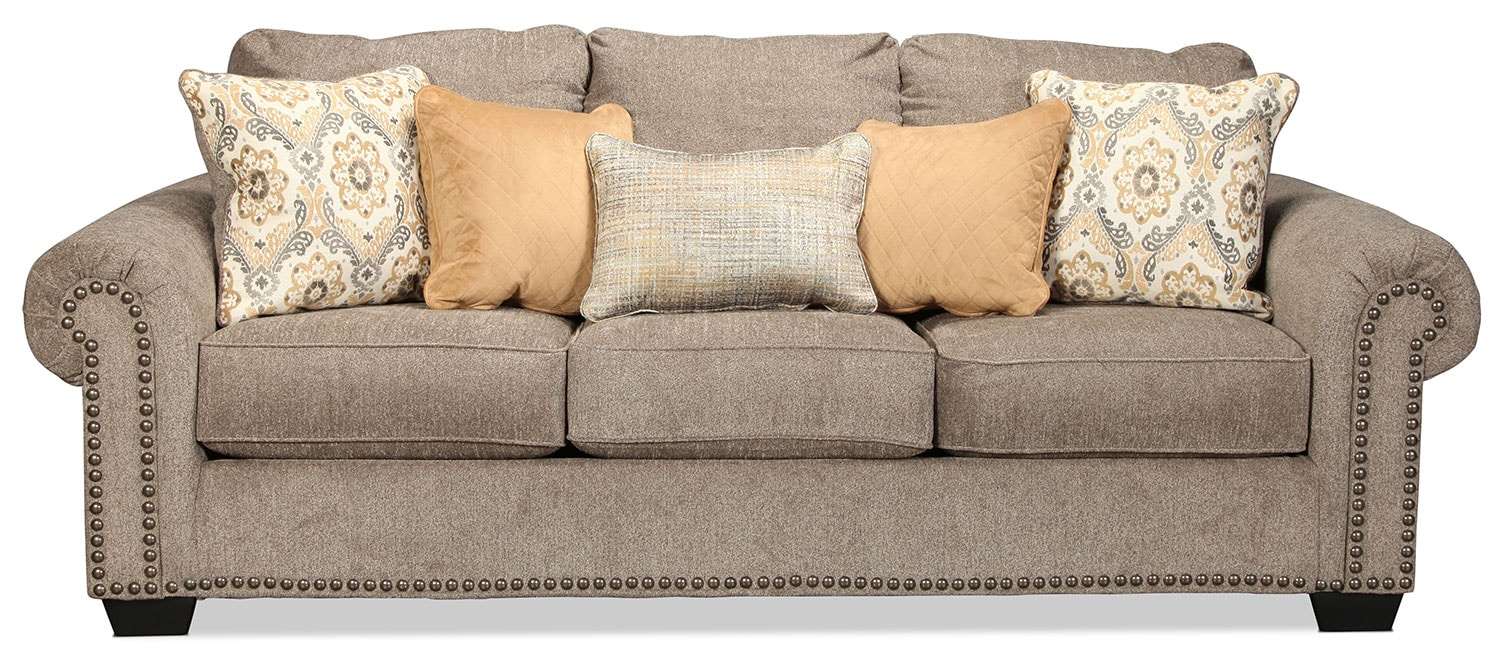 Callie queen sleeper sofa grey levin furniture for Levin furniture sectional sofa