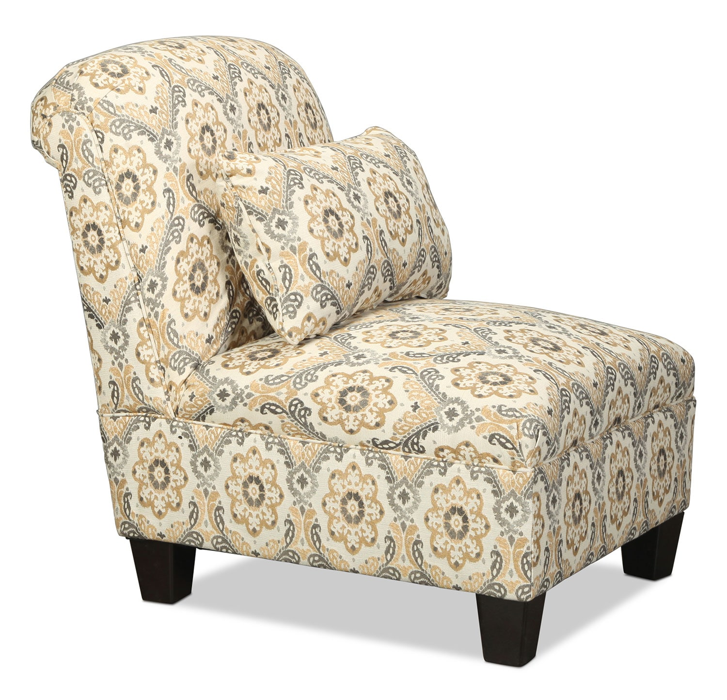 Callie accent chair floral levin furniture for Levin furniture living room chairs