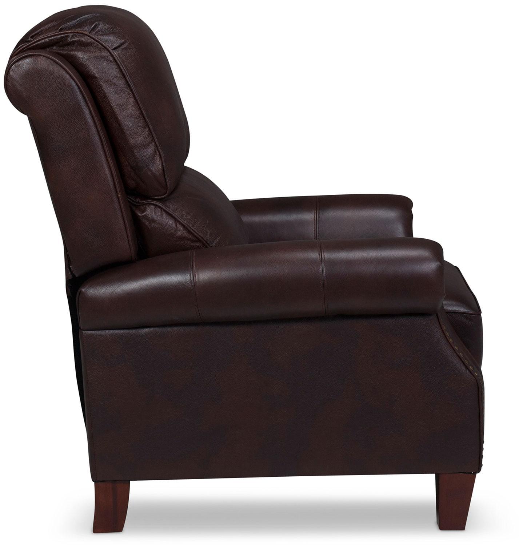 canelo high leg recliner espresso levin furniture
