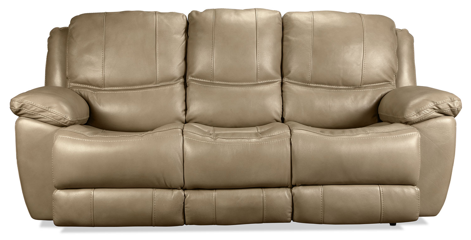 Regency Power Reclining Sofa - Mushroom