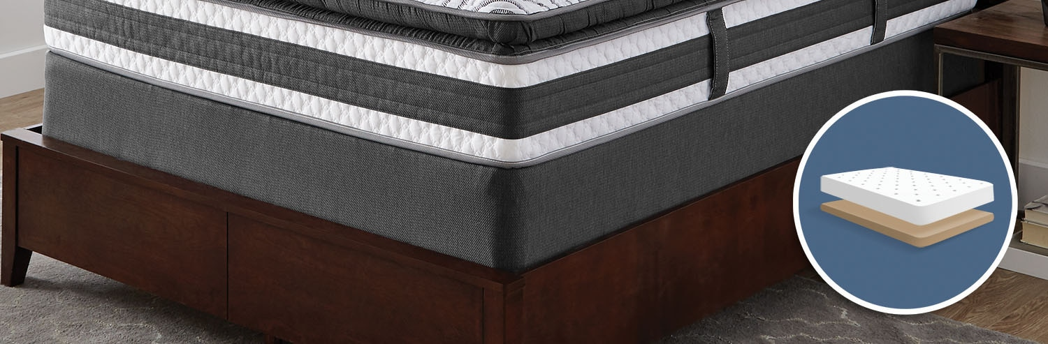 Mattresses and Bedding - Serta iCollection 2016 Low-Profile Twin Boxspring