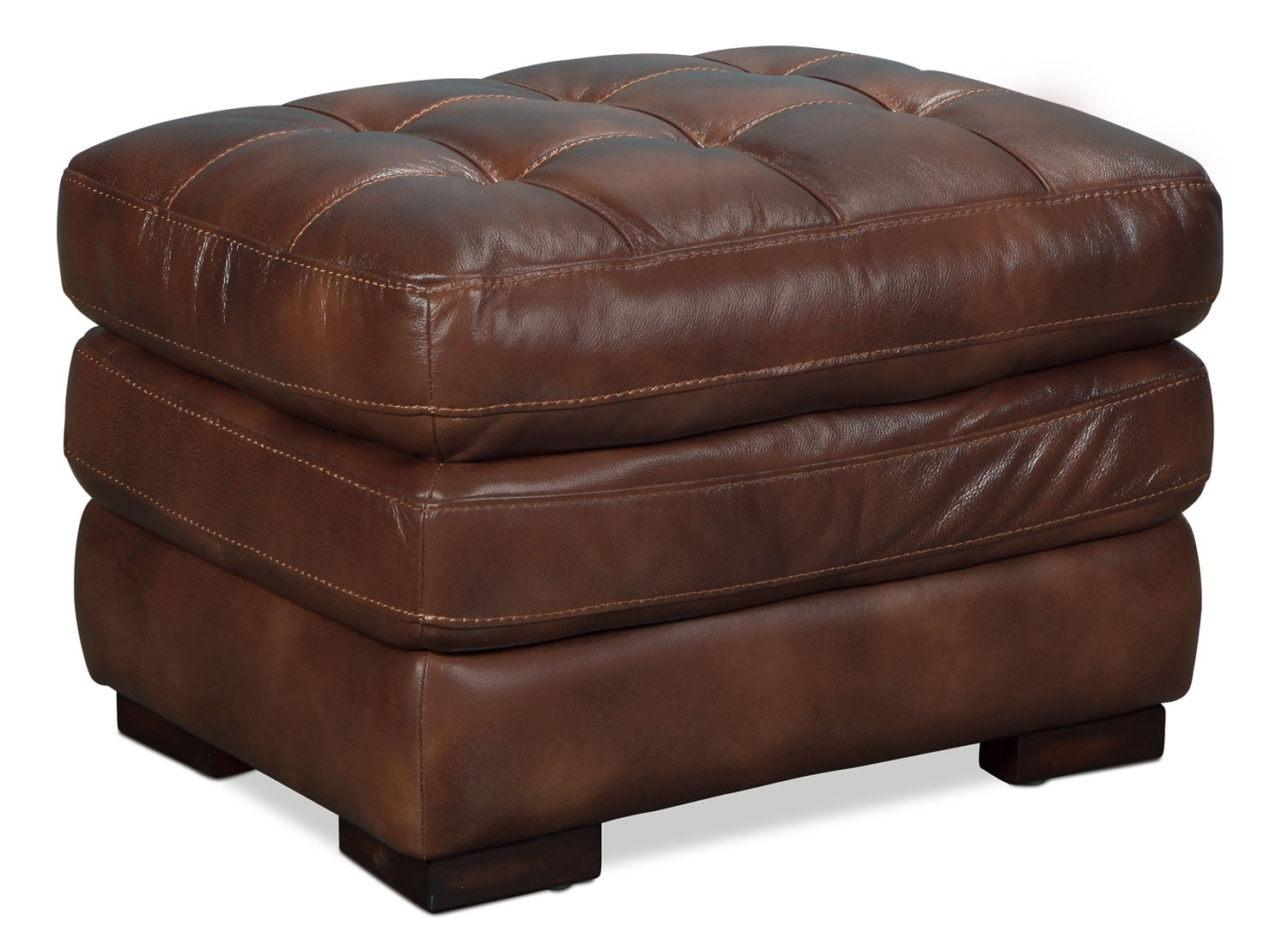 Living Room Furniture - Ashton Ottoman - Brown