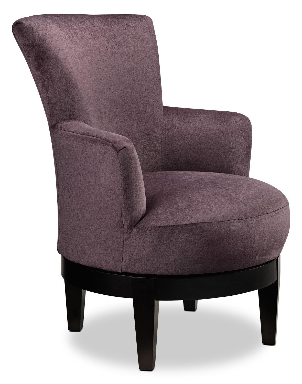 Justine Accent Chair Plum Leon S