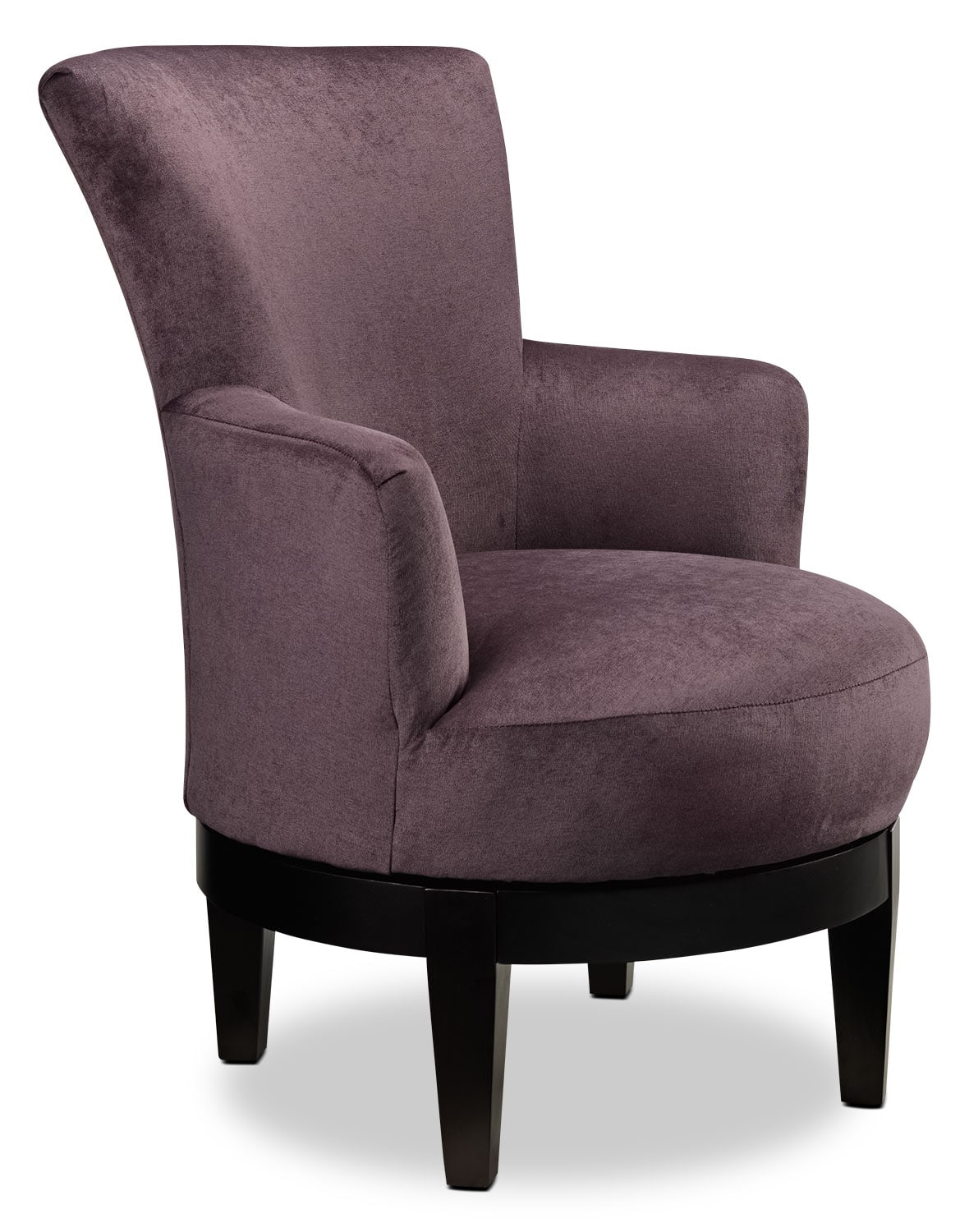 Living Room Furniture - Justine Accent Chair - Plum