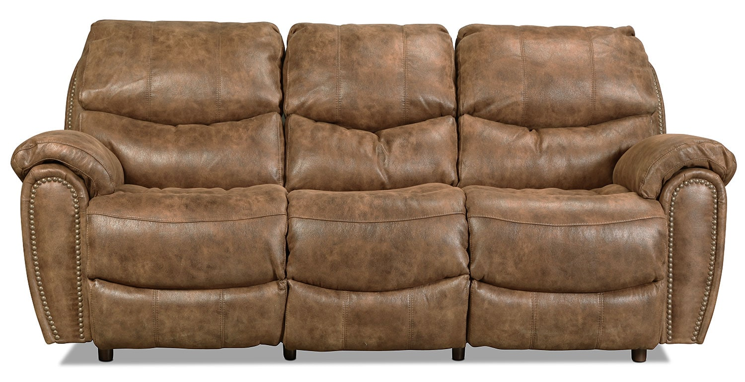 Living Room Furniture - Chase Reclining Sofa - Walnut