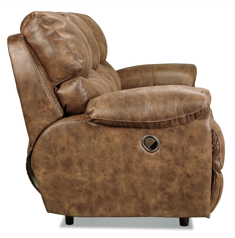 Chase Reclining Sofa Walnut Levin Furniture