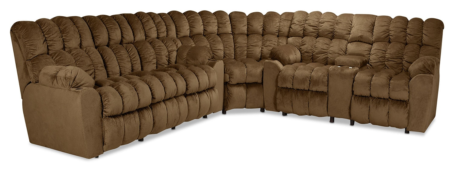 Clio 3-Piece Reclining Sectional - Cocoa