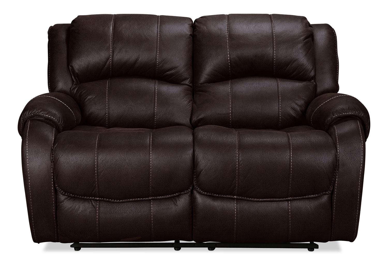 Living Room Furniture - Kensington Reclining Loveseat  - Godiva
