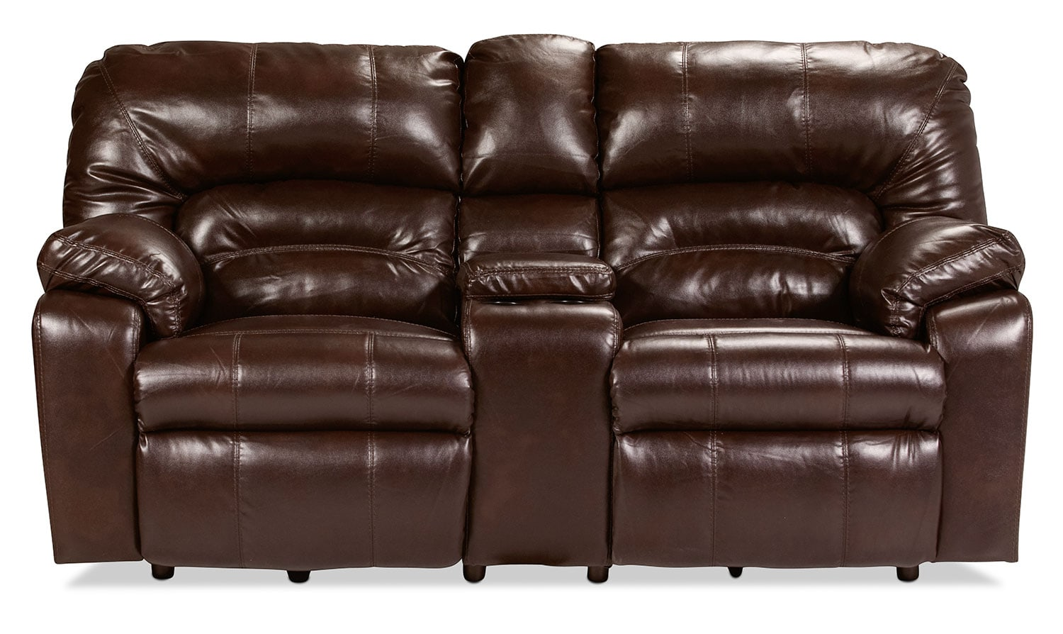Unwind Reclining Loveseat with Console - Java