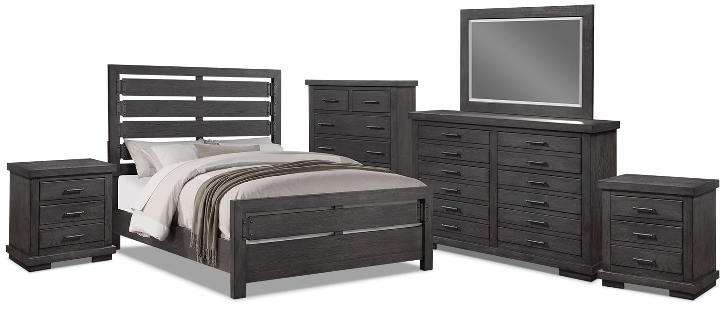 Bedroom Furniture - Revolution 8-Piece King Bedroom Package