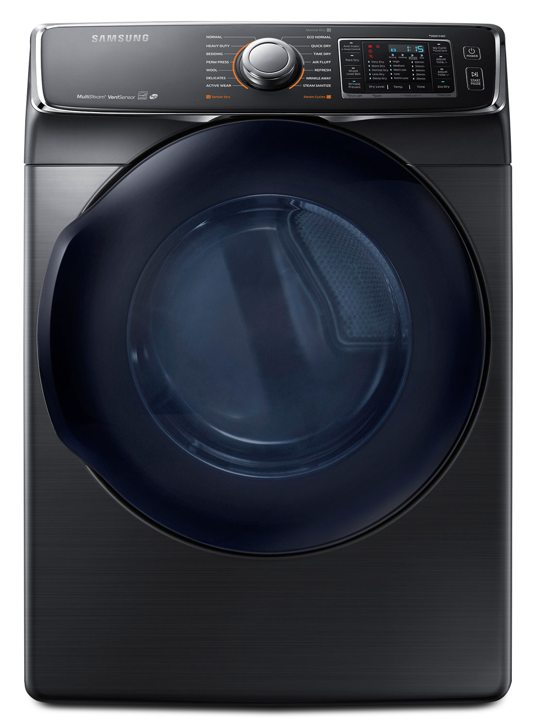 Washers and Dryers - Samsung 7.5 Cu. Ft. Electric Dryer – Black Stainless Steel DV50K7500EV/AC