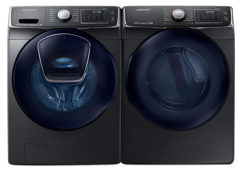 Laveuse à chargement frontal de 5,8 pi³ et sécheuse électrique de 7,5 pi³ de Samsung