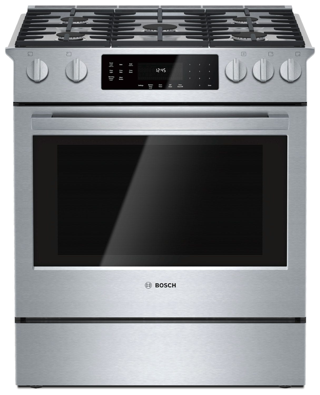 Cooking Products - Bosch Stainless Steel Slide-In Gas Range (4.8 Cu. Ft.) - HGI8054UC