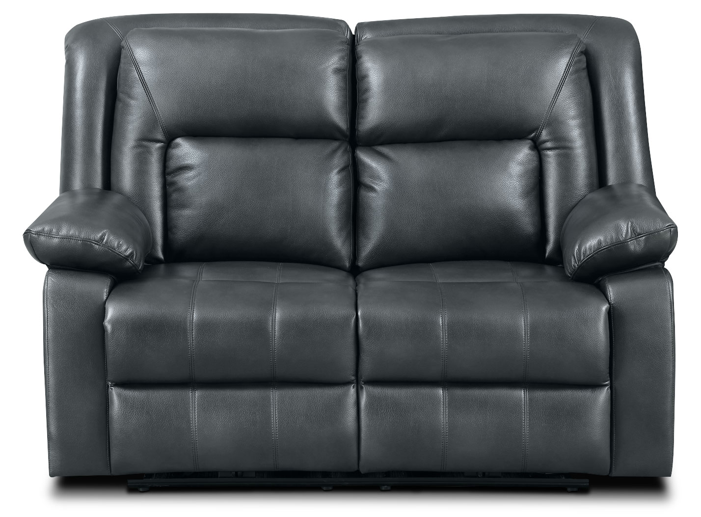 Blane Leather-Look Fabric Power Reclining Loveseat – Graphite