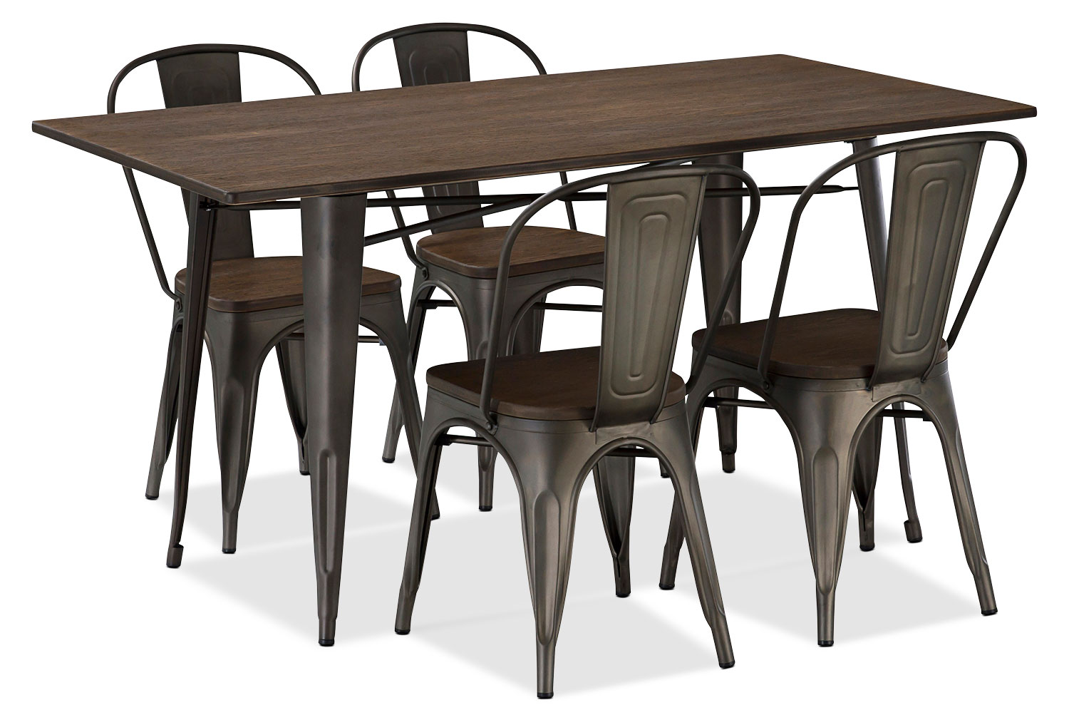 Dining Room Furniture - Peyton 5-Piece Dining Package