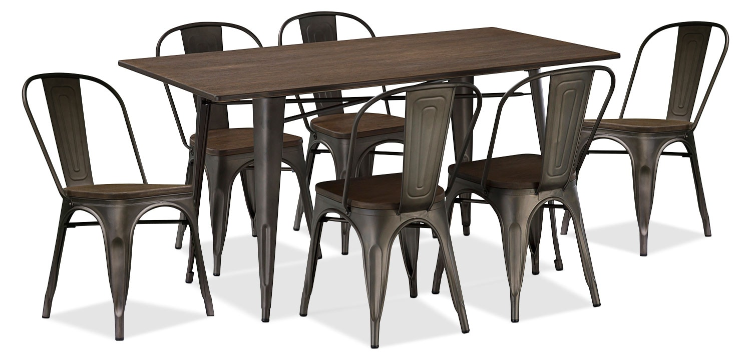 Dining Room Furniture - Peyton 7-Piece Dining Package