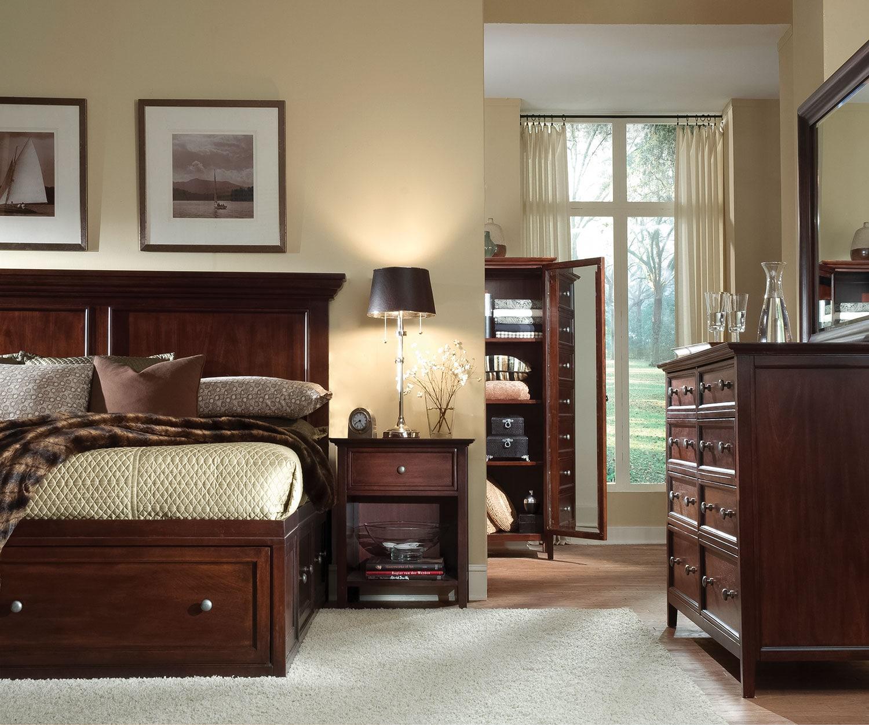 Ellsworth 4-Piece Queen Storage Bedroom Set - Cherry