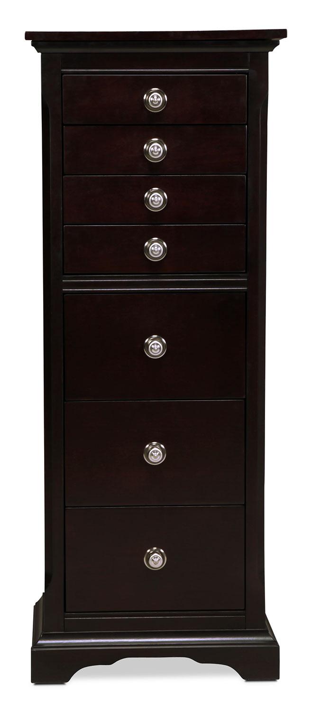 Georgetown Jewelry Armoire Dark Merlot Levin Furniture