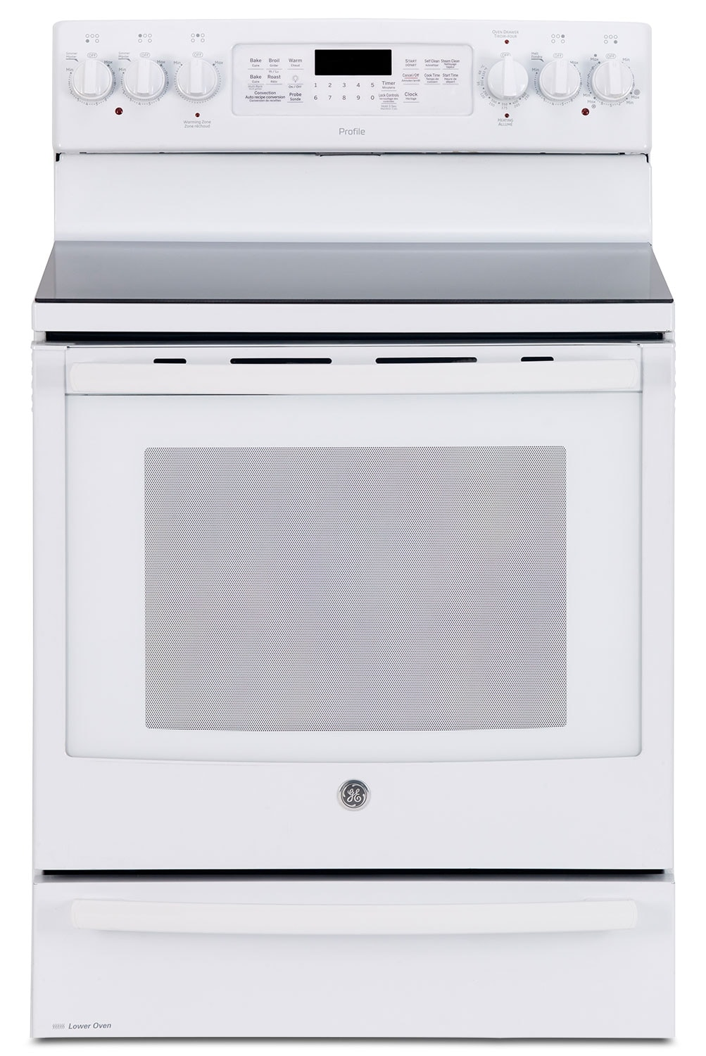 Cooking Products - GE 6.2 Cu. Ft. Freestanding Electric Range with Baking Drawer – PCB985DKWW