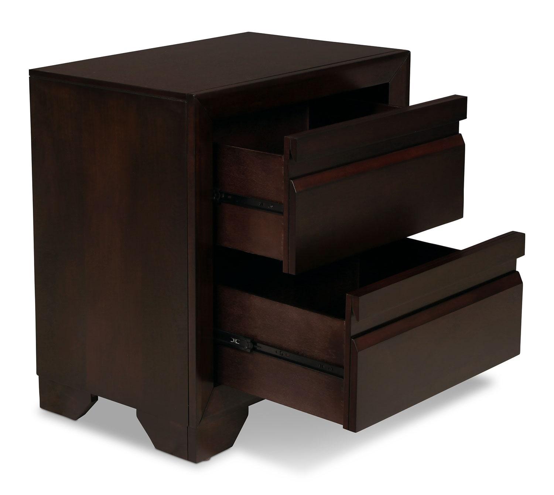 Venice Nightstand Merlot Levin Furniture