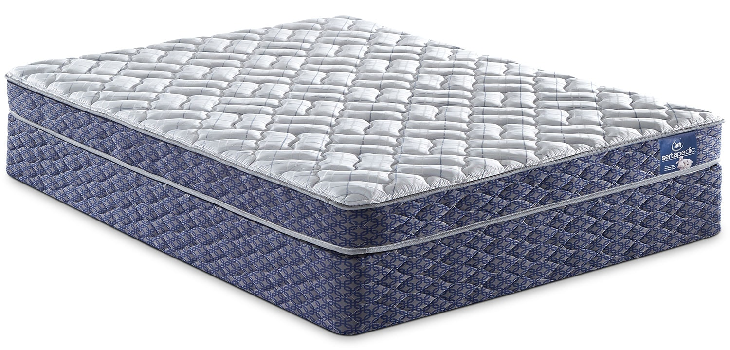 Mattresses and Bedding - Sertapedic® Tassel Tight-Top Twin Mattress Set