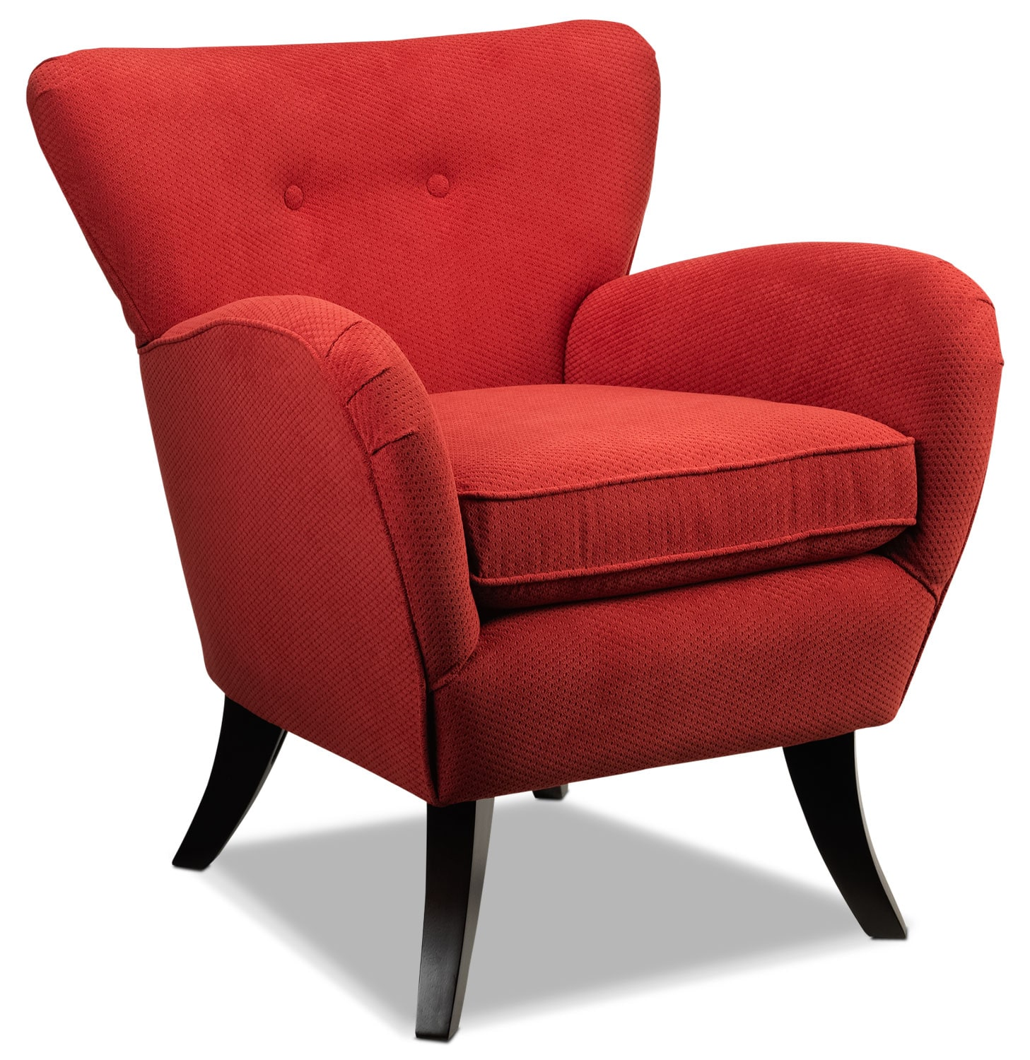 Elnora Accent Chair - Cherry Red